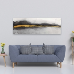 Canvas 20 x 60 - Gold stripe abstract