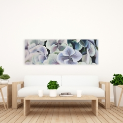 Canvas 20 x 60 - Colorful hydrangea flowers