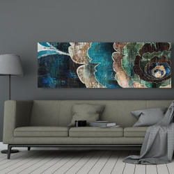 Canvas 20 x 60 - Blue flower montage