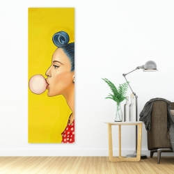 Canvas 20 x 60 - Retro woman with beautiful ponytail