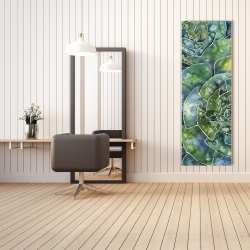 Canvas 20 x 60 - Abstract succulents