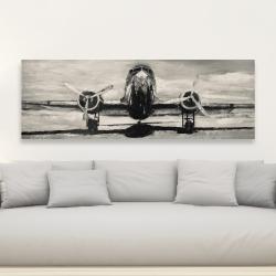 Canvas 20 x 60 - Sepia airplane