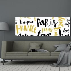 Canvas 20 x 60 - Bonjour paris