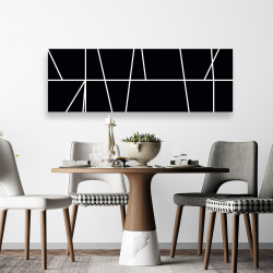 Canvas 20 x 60 - White stripes on black background
