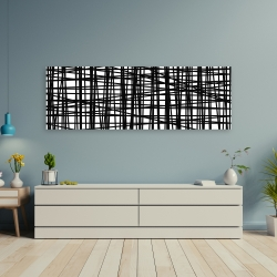 Canvas 20 x 60 - Abstract small stripes