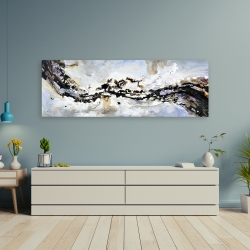 Canvas 20 x 60 - Texturized abstract wave