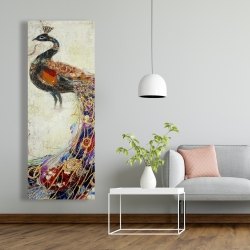 Canvas 20 x 60 - Majestic peacock