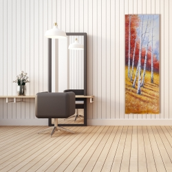 Canvas 20 x 60 - Fall landscape with birches