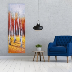 Canvas 20 x 60 - Fall forest landscape