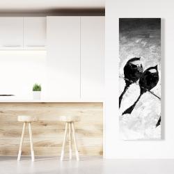 Canvas 20 x 60 - Five birds perched