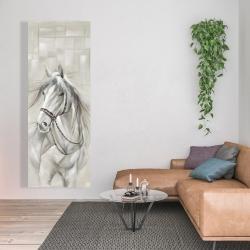 Canvas 20 x 60 - Worthy white horse