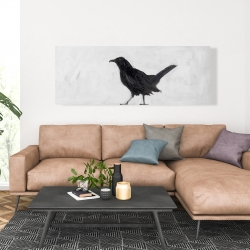 Canvas 20 x 60 - Lonely crow