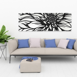 Canvas 20 x 60 - Dahlia flower outline style