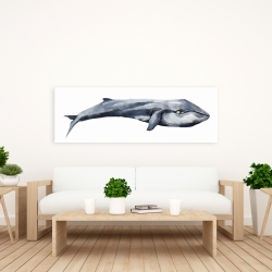 Canvas 20 x 60 - Watercolor whale