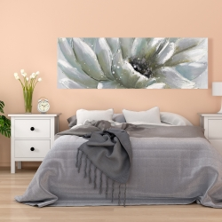 Canvas 20 x 60 - White chrysanthemum