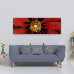 Canvas 20 x 60 - Red daisy