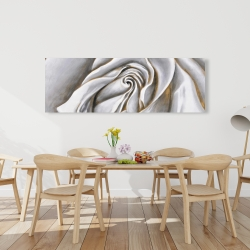 Canvas 20 x 60 - White rose delicate