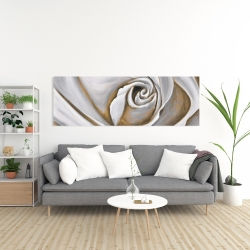 Canvas 20 x 60 - White rose closeup