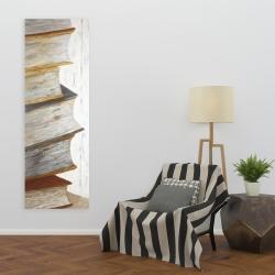 Canvas 20 x 60 - Mountain of vintage books