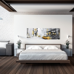 Canvas 20 x 60 - New york city with taxis