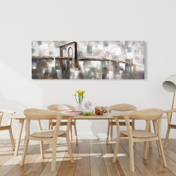Canvas 20 x 60 - Abstract paint spotted bridge