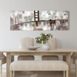 Canvas 20 x 60 - Abstract golden gate