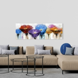 Canvas 20 x 60 - Colorful flowers