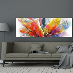 Canvas 20 x 60 - Abstract flower with texture