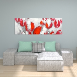 Canvas 20 x 60 - Red tulips