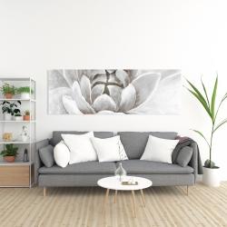 Canvas 20 x 60 - Delicate white chrysanthemum