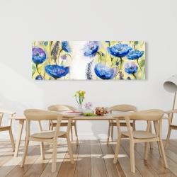 Canvas 20 x 60 - Blue garden