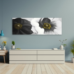 Canvas 20 x 60 - Assorted white flowers
