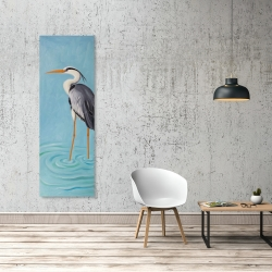 Canvas 20 x 60 - Grey heron