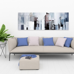 Canvas 20 x 60 - Abstract building shapes