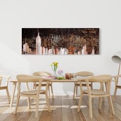 Canvas 20 x 60 - The empire city of newyork
