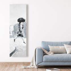Canvas 20 x 60 - Woman in the rain
