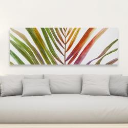 Toile 20 x 60 - Feuille de palmier tropical