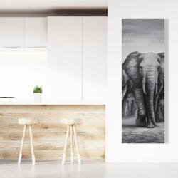 Canvas 20 x 60 - Herd of elephants