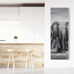 Canvas 20 x 60 - Herd of elephants