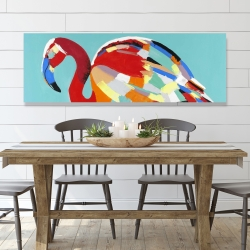 Canvas 20 x 60 - Abstract flamingo
