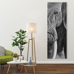 Toile 20 x 60 - éléphant