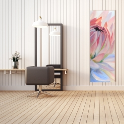 Canvas 20 x 60 - Lotus pastel flower