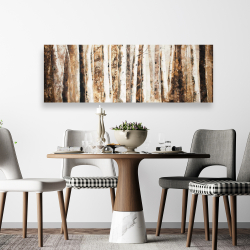 Canvas 20 x 60 - Trees of an asbtract forest