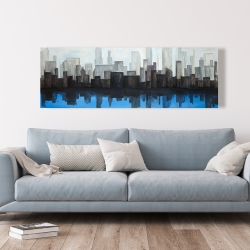 Canvas 20 x 60 - View of a blue city