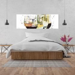 Canvas 20 x 60 - Beautiful wine glasses