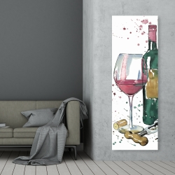 Canvas 20 x 60 - Bottle of red wine