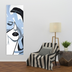 Canvas 20 x 60 - Abstract blue woman portrait