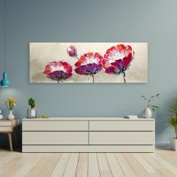 Canvas 20 x 60 - Three wild flowers