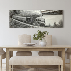 Canvas 20 x 60 - Vintage passenger locomotive
