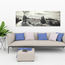 Canvas 20 x 60 - Steam engine train